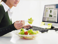 Eating Lunch at Desk Causes Blood Clot