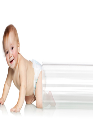 baby coming out of test tube