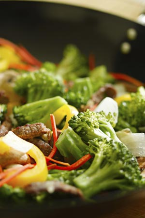 Stir friend veggies with Beef wok