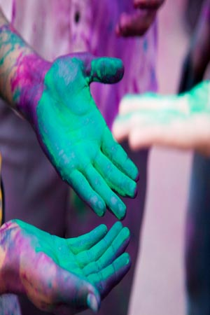 Playing Holi with organic colours