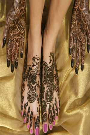 mehndi is applied on all occasions