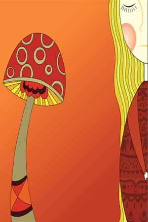 fungus and girl