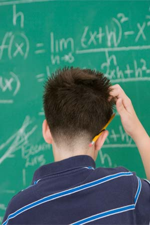 High Frequency Noise Boosts Math Skills