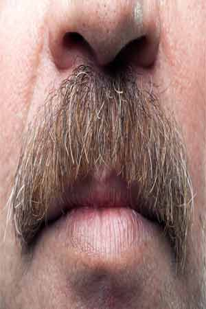 growing moustache may cause allergies