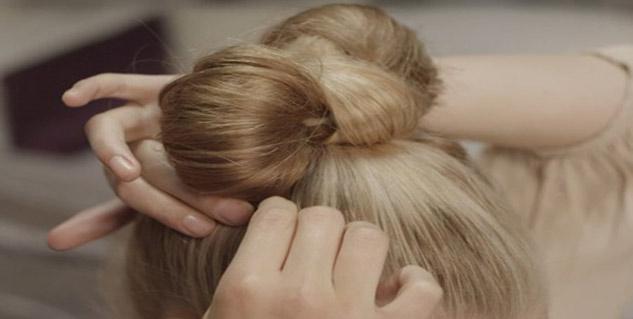 Awesome Steps To Make A Bow Bun With Short Hair Healthy Hair Short Hairstyles Gunalazisus