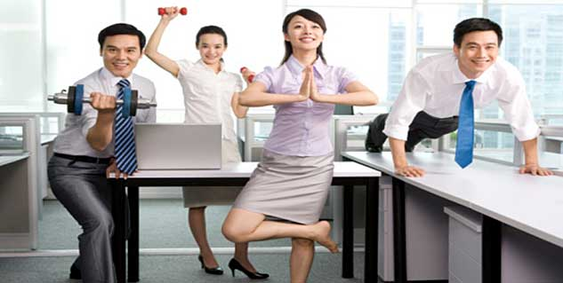 Working Out at Work in Hindi