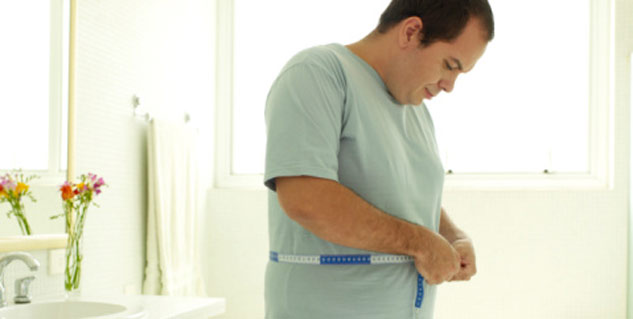 What causes weight gain in middle-aged men
