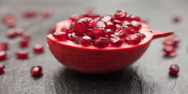 Pomegranates in Hindi