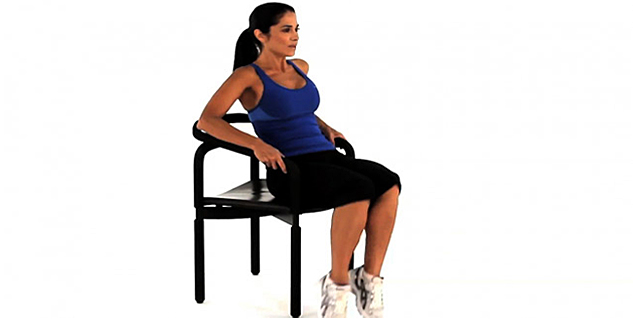 Chair Cardio Exercises in Hindi