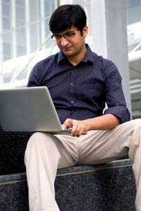A guy with his laptop