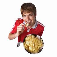 Boy with chips