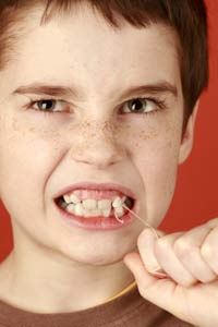 Child teeth remove