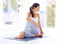 Toning up with yoga