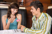 Couple in resturant