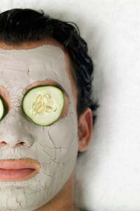 Man and face pack